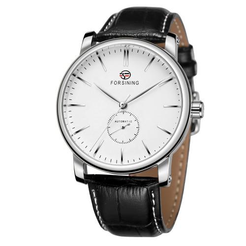 Механические часы Forsining Steel White
