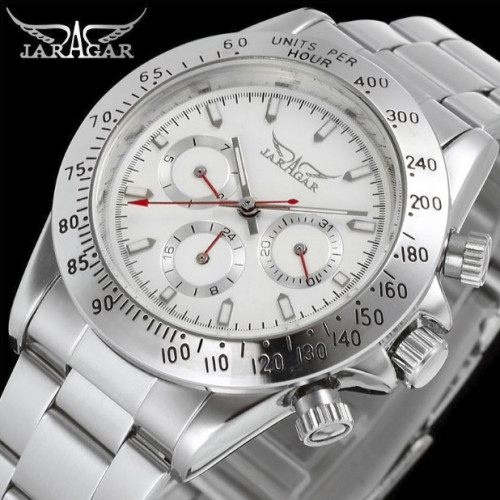 Механические часы Jaragar Classic White