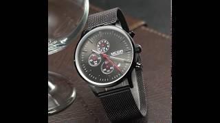 Мужские наручные часы Megir Style Black (MS2011G) обзор