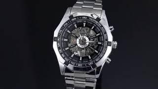 Мужские механические часы Winner Timi Skeleton обзор