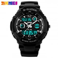 Спортивний годинник  Skmei S-Shock White