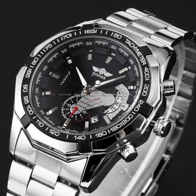 Механічний чоловічий годинник Winner Titanium. Купити годинник ... 54ba6d4c650dc